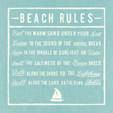 Beach Rules - Aqua - Detail Giclee Print by  The Vintage Collection