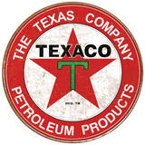 Texaco Motor Oil Weathered Tin Sign Tin Sign