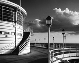The Pier Worthing B&W Giclee Print by Jo Crowther