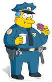 Police Chief Wiggam Silhouettes découpées en carton
