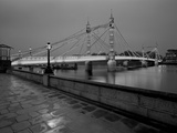 Evening Shower - Albert Bridge Giclee Print by Bill Philip
