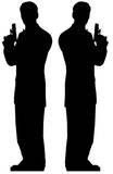 Secret Agent Male - Double pack Cardboard Cutouts