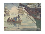 Book Illustration of the Battle of Lake Erie Giclee Print by E. Boyd Smith