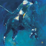 Polo Players - Blue Prints by Neil Helyard