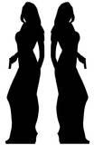 Secret Agent Girl - Double pack Silhouettes découpées en carton