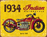 1934 Indian Motorcycles Tin Sign Tin Sign