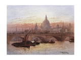 London Bridge, England Giclee Print by Fred E.J. Goff