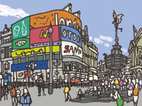 Piccadilly Circus Giclee Print by James Hobbs
