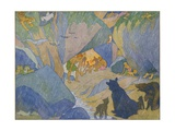 The Cave Dwellers Giclee Print by E. Boyd Smith
