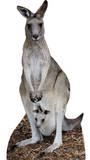 Kangaroo Silhouettes découpées en carton