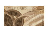 Travel by Air I Sepia Premium Giclee Print by Marco Fabiano