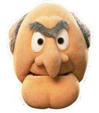 Statler - Muppets Face Mask Masques