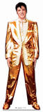 Elvis Gold Lamé Suit Pappfigurer