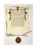 Facsimile of the Magna Carta Wydruk giclee autor J. Harris