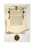Facsimile of the Magna Carta Giclee Print by J. Harris
