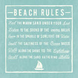 Beach Rules - Aqua - Detail Prints by  The Vintage Collection