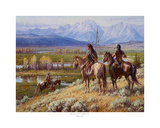 Scouts on the Buffalo Fork Prints by Martin Grelle
