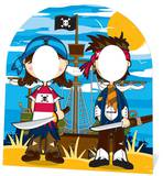 Pirate Stand In - Child-sized Pappfigurer