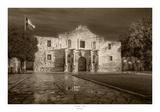 The Alamo, San Antonio, Texas Póster por Rod Chase