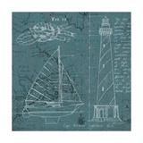 Coastal Blueprint III Premium Giclee Print by Marco Fabiano