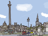 Trafalgar Square Giclee Print by James Hobbs
