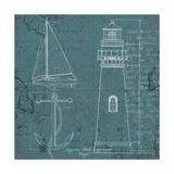Coastal Blueprint IV Premium Giclee Print by Marco Fabiano