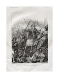 The Battle of Agnadello Engraving Giclee Print by A.v. Fontaine