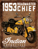 1953 Indian Roadmaster Tin Sign Placa de lata