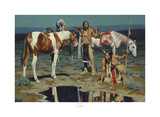 Shod Horses & Boot Prints Posters by David Mann