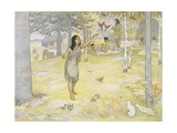 Illustration of Pocahontas as a Girl Giclee Print by E. Boyd Smith
