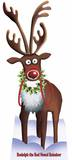 Rudolph the red nose Reindeer Pappfigurer