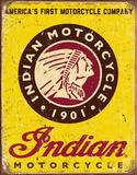 Motocicletas Indian desde 1901 Cartel de chapa