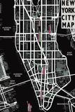 Tom Frazier - New York City Map Digitálně vytištěná reprodukce