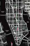 New York City Map Lámina giclée por Tom Frazier