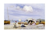 Wear Bay Beach, Folkestone Giclee Print by Frank M. Chase