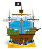 Pirate ship Cardboard Cutouts
