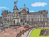 Buckingham Palace Giclee Print by James Hobbs