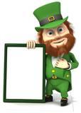 St Patrick's Day Sign Silhouettes découpées en carton
