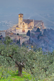 Italy, Umbria, Perugia District, Assisi, Basilica of San Francesco. Photographic Print by Francesco Iacobelli