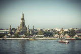 Temple of Dawn (Wat Arun) and Bangkok, Thailand Photographic Print by Jon Arnold