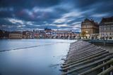Vltava River and Prague, Czech Republic Photographic Print by Jon Arnold