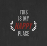 This Is My Happy Place Print by Evangeline Taylor