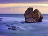 France, Biarritz, Pyrenees-Atlantique, Seascape and Rock Formation Photographic Print by Shaun Egan