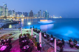 Qatar, Doha, New Skyline of the West Bay Central Financial District of Doha Photographic Print by Gavin Hellier
