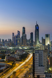 Kuwait, Kuwait City, Elevated View of the Modern City Skyline and Central Business District Photographic Print by Gavin Hellier