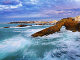 France, Biarritz, Pyrenees-Atlantique, Seascape Photographic Print by Shaun Egan