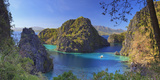 Philippines, Palawan, Coron Island, Kayangan Lake, Elevated View from One of the Limestone Cliffs Photographic Print by Michele Falzone