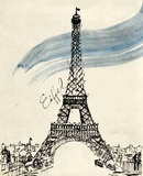 Eiffel Tower in Pen Prints by Morgan Yamada
