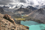 Ala Kul (Ala Kol) Lake (3560 M), Issyk Kul Oblast, Kyrgyzstan Fotografie-Druck von Ivan Vdovin