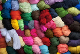 Saquisili Market, Balls of Dyed Yarn for Sale, Wool, Saquisili, Cotopaxi Province, Ecuador Photographic Print by John Coletti